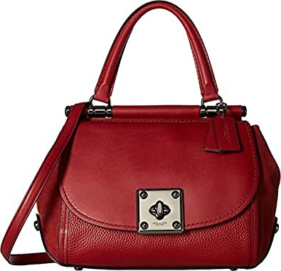 COACH Women's Mixed Leather Drifter Top-Handle Dk/Cherry One Size