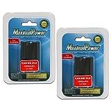 MaximalPower DB CAN NB-2LH x2, 2 Pack Battery (Black)