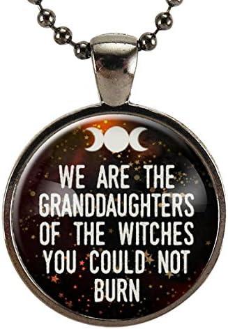 Somos la Granddaughters de las brujas no puede grabar cita collar, joyas, Feministas feminismo Igualdad de Género colgante: Amazon.es: Juguetes y juegos