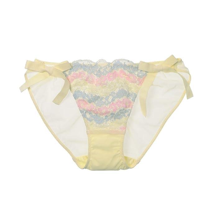 Bragas Para Mujer (paquete De 2) Ropa Interior De Algodón Ultra Suave Cómoda Encaje Cara, Yellow-M: Amazon.es: Ropa y accesorios