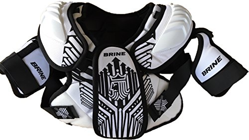 Brine Uprising Lacrosse Shoulder Pad (X-small, White)