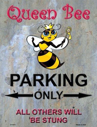 Queen Bee Parking Metal Novelty Parking Sign P-1011