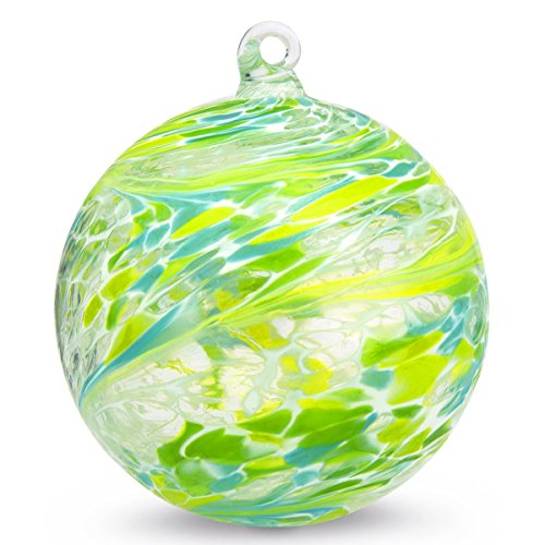 Ornament Blown Glass Ball - Friendship Ball Fresh 4 Inch Kugel Witch Ball by Iron Art Glass Designs