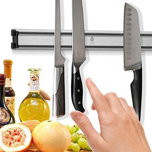 Messer-Magnetstreifen Platzsparend - hält Messer sicher und organisiert - Leistungsstarker Magnet - Einfach zu installieren - Stilvolles Design - Der Küche-Messerhalter ist perfekt, um Messer außerhalb der Reichweite von Kindern zu halten - besteht aus hochwertigsten Materialien - Rostfrei