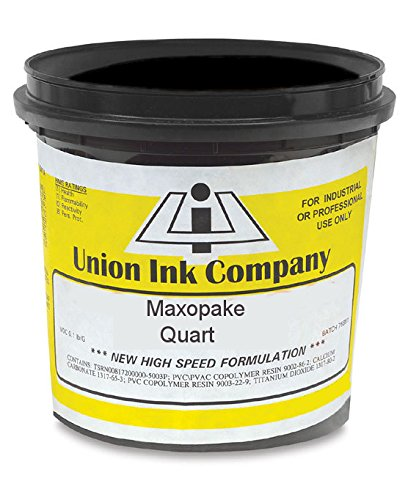 Union Maxopake - Plastisol Screen Printing Ink - Low-Bleed EZ Print White (Quart) by Union Ink