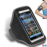 NOKIA N8 GREY Adjustable Armband Sport Gym Bike Cycle Running Jogging Sports Case Cover Holder Pouch (AA) BY SHUKAN®