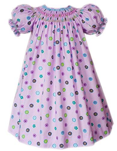 Carouselwear Hand Smocked Lavender Girls Bishop - Lavender Bishop
