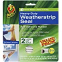 2 Ct Duck Brand Self Adhesive Weatherstrip Seal for Large Gaps