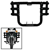 Trustway LG-51 Bike Front Leg Guard Airfly Leg Crash Guard 3 Bend Bar - Rod Tied With Black Rope for Royal Enfield Classic 350
