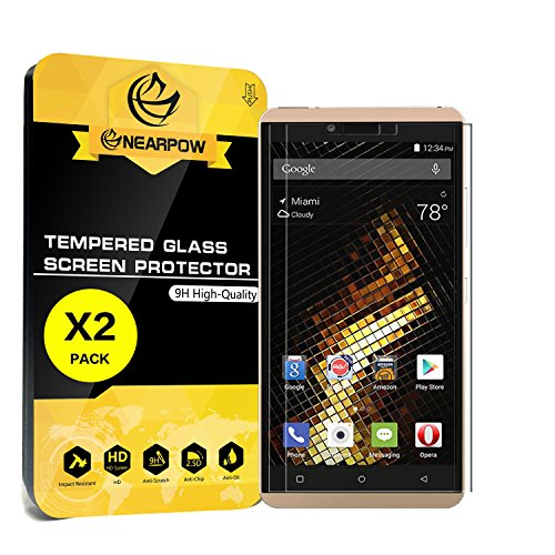 outlet [2 Pack] BLU Vivo XL Screen Protector, Nearpow [Tempered Glass] Screen Protector with [9H Hardness] [Crystal Clear] [Easy Bubble-Free Installation] [Scratch Resist]