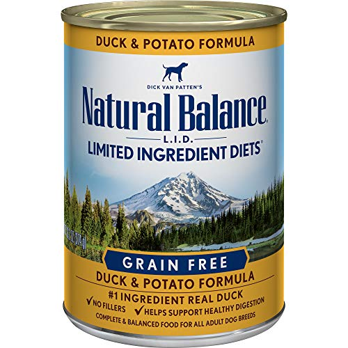 - Natural Balance LImited Ingredient Diets Duck & Potato Formula Wet Dog Food, 13 Ounces (Pack of 12), Grain Free