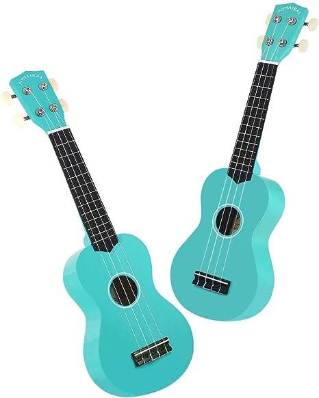 POMAIKAI Soprano Ukelele para Principiantes, Ukelele Hawaiano para Niños, Guitarra de 21 Pulgadas con Bolsa para Niños Estudiantes y Principiantes (Azul Claro): Amazon.es: Instrumentos musicales