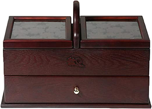 Caja De Almacenamiento De Cosméticos Caja de costura de madera ...