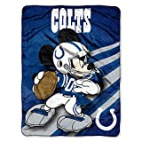 The Northwest Company NFL Indianapolis Colts Mickey Mouse Ultra Plush Micro Super Soft Raschel Throw Blanket