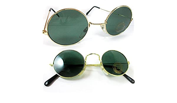 2840f6cd9f5 Amazon.com  John Lennon Sunglasses Round Shades Wire Frame Colored Lenses  Metal Retro Hippie  Office Products