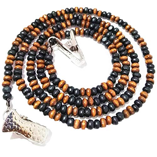 Natural Wooded Beads Reading Glasses Strap Lanyard Eyeglass Holder Chains for Women Grips Retainer Cord Clip-b