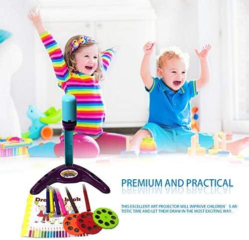 Blau Parayung Kinder Magnetplastik Zeichenbrett Projektor mit Muster Schiebe Radiergummi und Musikmalerei Bildungswerkzeug