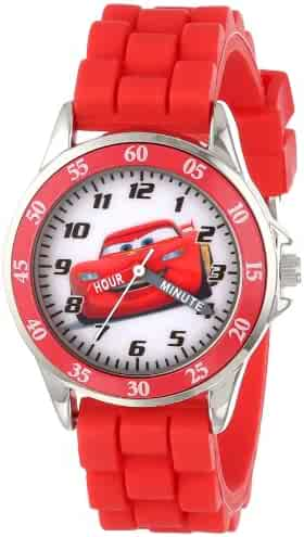 Disney Boy's Quartz Metal and Rubber Watch, Color:red (Model: CZ1009)