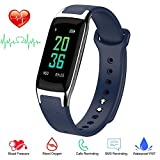 Getfitsoo Waterproof Bluetooth Smart Activity Tracker with Heart Rate Monitor (B20-Blue)