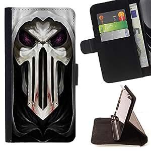 - cool Goth skull mask scary blood hood - - Prima caja de la PU billetera de cuero con ranuras para tarjetas, efectivo desmontable correa para l Funny HouseFOR Samsung Galaxy S5 V SM-G900
