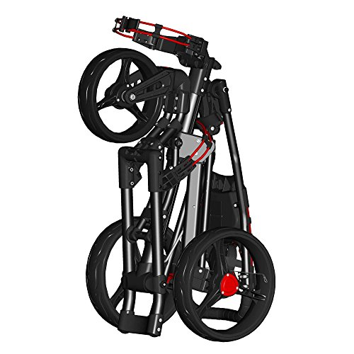 Spin It Golf Products Easy Drive Golf Push Cart, Black/Blue by Spin It Golf Products, LLC (Image #2)