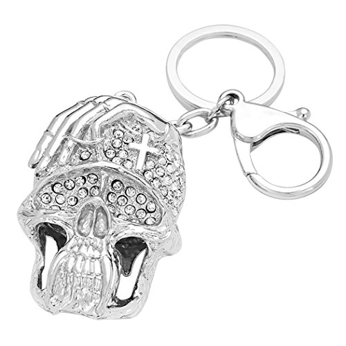 Rosemarie Collections Women's Crystal Scull Keychain Handbag Charm (Morticia Adams Costumes)