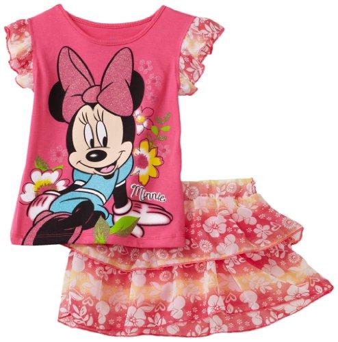 Disney Baby Girls' Minnie Floral 2 Piece Skooter Set, Pink, 18 Months