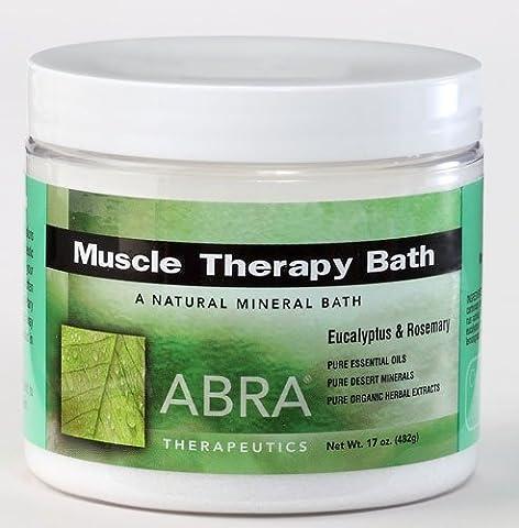 Abra Muscle Therapy Sea Salt Bath, Eucalyptus & Rosemary, 1 Pound - Therapy Bath 1 Lb Powder