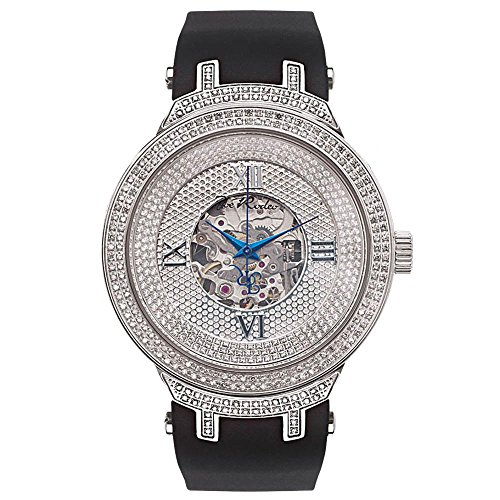 Joe Rodeo JJM71 Master Man Diamond Watch, White Dial with Black Band