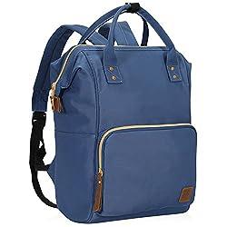 Veegul Wide Open Multipurpose School Backpack Lightweight Travel Bag 18L Navy Blue