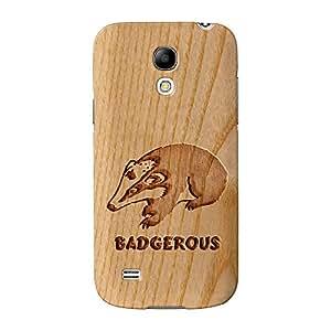 Tallada En Madera Efecto _ badgerous Full Wrap Case Impreso en 3d gran calidad, Snap-on Cover para Samsung Galaxy S4Mini Por barbacoa