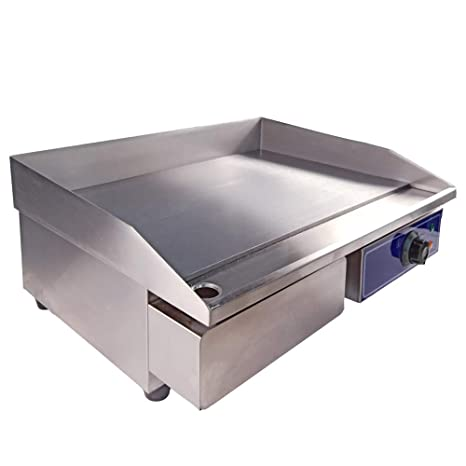 Taimiko Commercial Electric Griddle Flat Top Grill Hotplate Kitchen Grill Countertop Stainless Steel Thermostatic Control 3000w 22 One Year Warranty