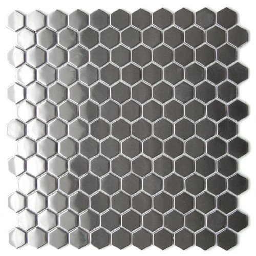 Steel Mosaic Tile - Honeycomb Hexagon Mosaic Stainless Steel Tile