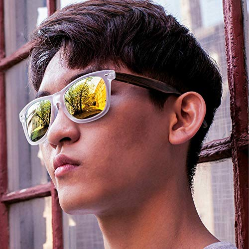 Eye de Temples With Clear Wood Pear Homme Love Lunettes soleil avxarq