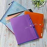 Expanding File Folder with 5 Pockets, SEEKIND