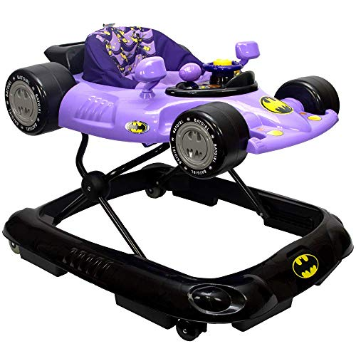 KidsEmbrace Batgirl Baby Activity Walker, DC Comics Car, Music and Lights, (Baby Ride In Batmobile Costumes)