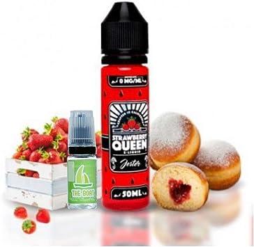 E Liquid Strawberry Queen The Jester 50 ml (Strawberry Jelly Donut) - Sin nicotina + ELiquid The Boat 10 ml lima limón - Pack de 2 líquidos para cigarrillo electrónico.: Amazon.es: Salud y cuidado personal