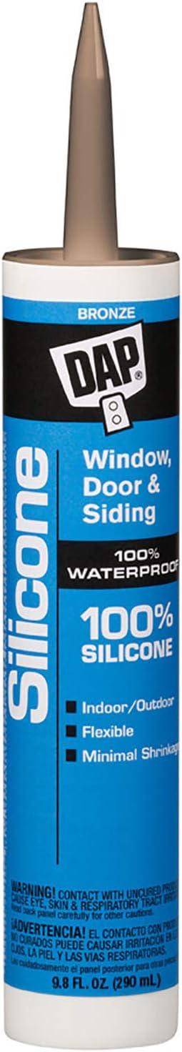 Dap 8647 100% Silicone Wd&S Bronze Raw Building Material, 9.8 oz