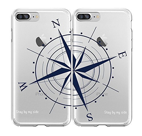 SHARK Best Friends Style/Boyfriend&Girlfriend Compass/STAY BY MY SIDE Matching Couple Cases for(Two cases for iphone x)