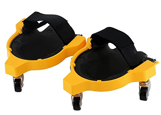 YOVYOV Rolling Knee Pads/Creepers, Knee pad Tools With Wheels for Men, 3 Rotating Casters, Used for Tile Work, Floor Construction, Painting Low Places(2 PCS): Amazon.com: Industrial & Scientific