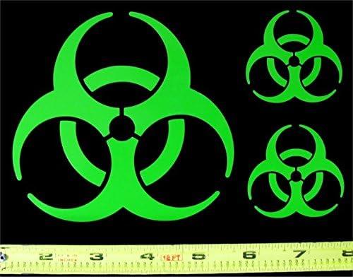 Biohazard Decal Sticker 3 Inch Green Stick It