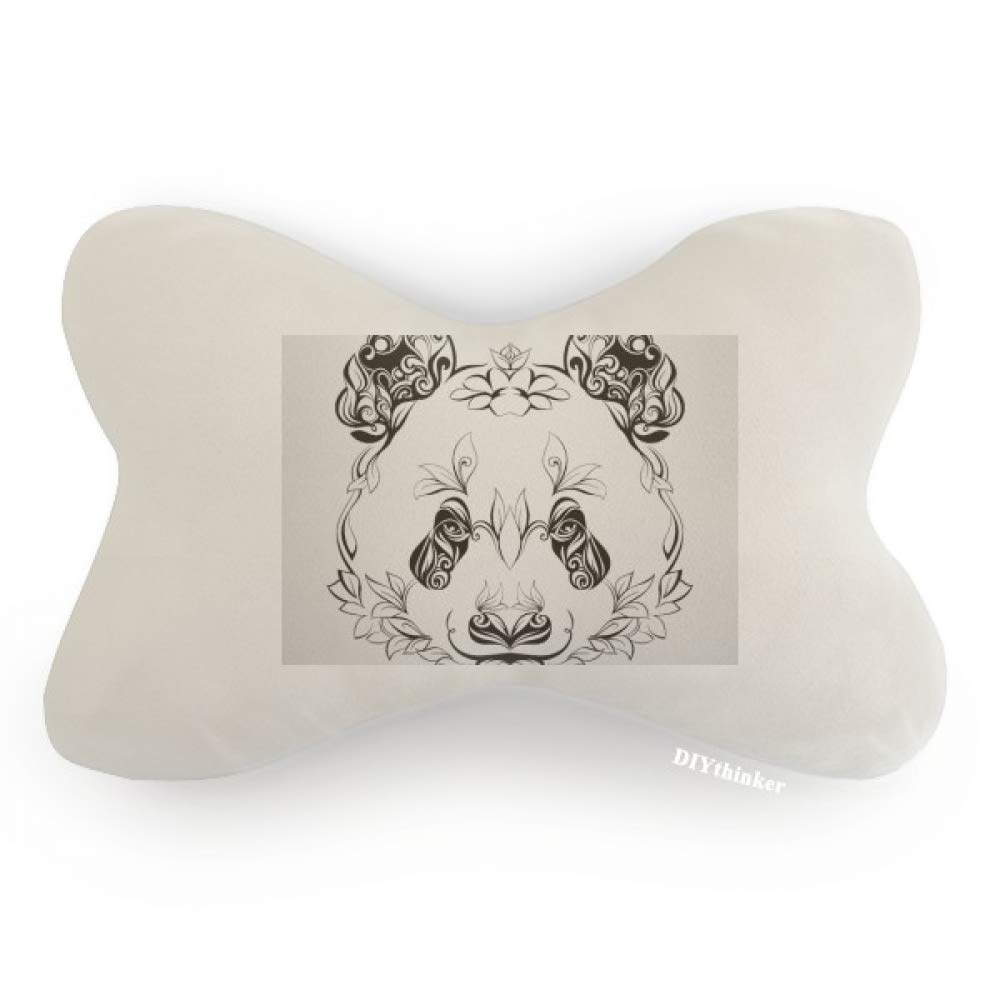 DIYthinker Fluffy Giant Panda Animal Portrait Car Neck Pillow Headrest Support Cushion Pad by DIYthinker (Image #1)