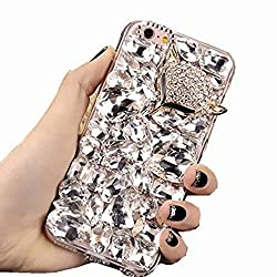 Clear Fox Rhinestone With TPU Case for Oppo