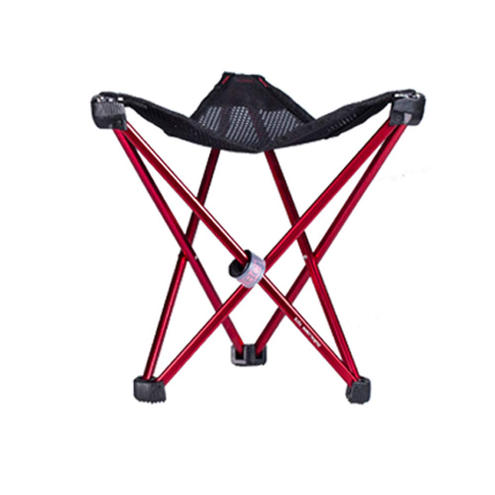 FH Outdoor Folding Chair, Portable Folding Camping Beach Fishing Stool 29×26cm, red