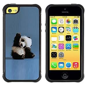 SHIMIN CAO@ Tiny Baby Panda Quote Blue China Animal Rugged Hybrid Armor Slim Protection Case Cover Shell For iphone 5C CASE Cover ,iphone 5C case,iphone5C cover ,Cases for iphone 5C