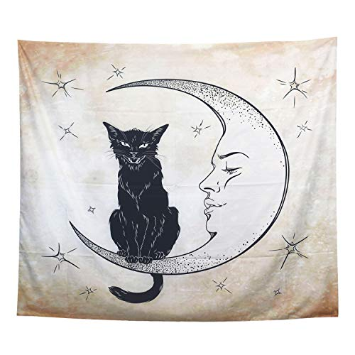 ECONIE Cat Tapestry Wall Hanging Tapestry Wall Art Decor Beach Throw Table Runner/Cloth 51