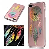 For iphone 7 Plus/ 8 Plus Case Clear Silicone Phone Cover and Screen Protector, OYIME Creative Plating Design with Bright Pattern Skin Ultra Thin Slim Soft Silicone Rubber Glitter Brilliant Transparent Protective Back Cover Anti-Scratch Drop Protection Shockproof Bumper Cases - Dream Catcher