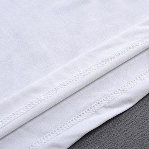 blanco con de Camiseta hombre Camiseta en Aimee7 corta de moda manga Cl estampado para IPfAnw