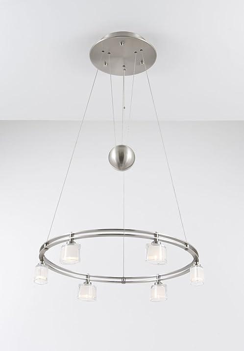 Holtkoetter 5556 sn g5010 halogen low voltage contemporary chandelier 6 light satin