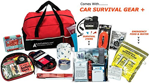 AutoClubHero Premium Car Emergency Kit 185 Pieces For Car Survival & Roadside Assistance